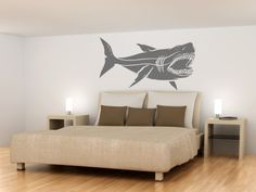 Wall Decals  Huge 40 inch Shark Megalodon Wall by WallStickyDecal, $39.99
