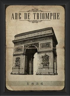 Arc de Triomphe Framed Graphic Art