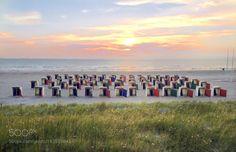 Sunset at the Beach.... by Caspario. Please Like http://fb.me/go4photos and Follow @go4fotos Thank You. :-)