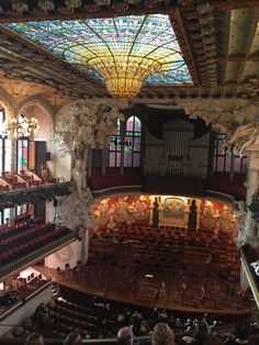 El Petit Palau de la Música Catalana in Barcelona, Cataluña