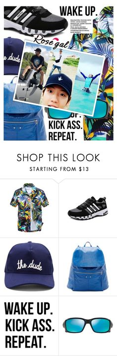 """""""Tropical Print featuring Rosegal.com"""" by cultofsharon ❤ liked on Polyvore featuring Maison Labiche, Balenciaga, WALL, Oakley, men's fashion and menswear"""