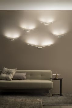 Applique a LED in policarbonato WINGS by Linea Light Group | design Edin Dedovic