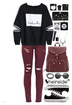 """SheIn 2"" by scarlett-morwenna ❤ liked on Polyvore featuring Converse, Essie, MAKE UP FOR EVER, ASOS, Topshop and Givenchy"