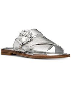 304407fd643a Michael Kors Frieda Slide Flat Sandals - Sandals   Flip Flops - Shoes -  Macy s