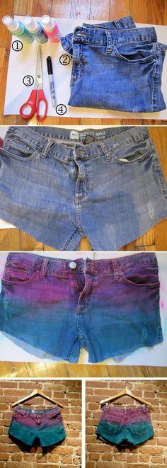 Dyeing for Fun: DIY Fashion Tie Die DIY: Tie Dye Shorts