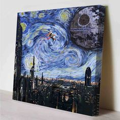 two of mg favorite things, Star Wars and Van Gogh, all in one awesome art piece. -- Star Wars Starry Night Canvas Print by PeriodDesign on Etsy Star Wars Vans, Van Gogh, Amour Star Wars, Wall Art Prints, Canvas Prints, Canvas Art, Pot Pourri, Star War 3, Death Star