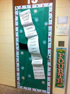 Easy holiday door decor for the classroom. Description from pinterest.com. I searched for this on bing.com/images