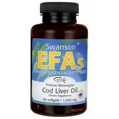 Buy Swanson EFAs Pristine Norwegian Cod Liver Oil 60 Softgels at Megaviatmins online supplements store Australia.Cod Liver Oil for healthy bones and skin. Supplements For Hair Loss, Natural Supplements, Liver Cleanse Juice, Great Lakes Gelatin, Liver Recipes, Metabolism Support, Omega 3 Fish Oil, Cod Liver Oil, Healthy Brain