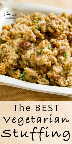 You want this recipe for the BEST Vegetarian Stuffing #vegetarian #stuffing #thanksgiving #christmas #holidays