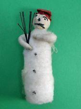 Antique Spun Cotton Snowman Ornament