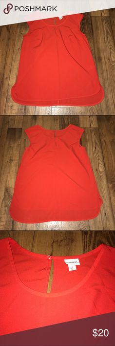 "Lightweight Sleeveless Blouse NWOT Red-Orange Sleeveless Blouse  Size M Chest: approx 19"" Length: approx 27.5""  Took the tag off and never wore it   💲💲OFFERS WELCOME💲💲 ❌❌NO Trades❌❌ Merona Tops Blouses"