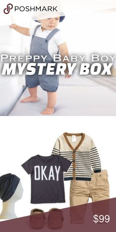 HP🎉Preppy Boy Mystery Box (8-10 pcs) I'm a new mommy and a stylist who takes pride in what I do. Introducing mystery boxes for your little peanuts. This box will include 8-10 pieces in the style above. all in excellent condition. Brands might include: Janie and Jack , crew cuts, Tea, Ralph Lauren ,baby gap,petite Ami & more! NO RETURNS NO EXCEPTIONS NO EXCHANGES Janie and Jack One Pieces