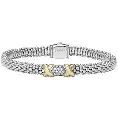 LAGOS | Silver and Diamond Caviar Bracelet