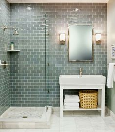 Bathroom Renovation Ideas: bathroom remodel cost, bathroom ideas for small bathrooms, small bathroom design ideas Grey Bathroom Tiles, Small Bathroom With Shower, Bathroom Renos, Modern Bathroom Design, Bathroom Interior Design, Bathroom Renovations, Master Bathroom, Bathroom Designs, Small Bathtub