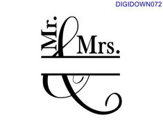 Mr and Mrs Frame Design ndash SVG Cut File mtc svg pdf eps ai dxf png amp jpg Cricut Air, Cricut Vinyl, Svg Files For Cricut, Cricut Stencils, Letter Stencils, Silhouette Cameo Projects, Silhouette Design, Silhouette Files, Silhouette Studio