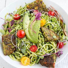 Pesto Zoodles with Dr. Pesto Zoodles, Dr Praeger's, Kale, Cobb Salad, Veggies, Vegetarian, Fresh, Canning, Ethnic Recipes