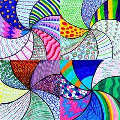 Vortex of textures (Arte a Scuola) Madhubani Art, Madhubani Painting, Square One Art, Elements Of Art Texture, Circle Art, Creative Activities, Art Lesson Plans, Teaching Art, Elementary Art