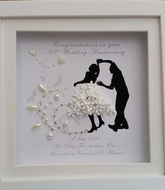 PERSONALISED DEEP BOX FRAME WEDDING ANNIVERSARY JIVE WALTZ DANCING GIFT PRINT