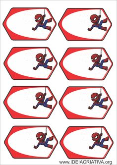 Etiquetas Homem Aranha para Organizar Material Escolas Free Printable Banner, Printable Labels, Free Printables, Superhero Birthday Party, 8th Birthday, School Labels, Party Bags, Holidays And Events, Gift Tags