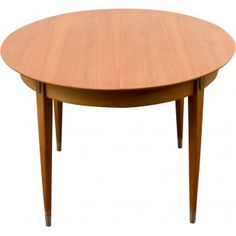 Mid-century Hainke round extendable dining table in ash - 1950s