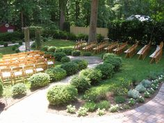 backyard wedding seating area chair rental cheap DIY
