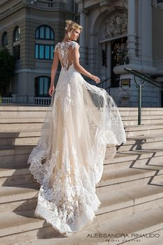 alessandra rinaudo 2017 bridal cap sleeves scoop neckline heavily embellished bodice ivory color romantic princess a line wedding dress razor back chapel train (bea) bv