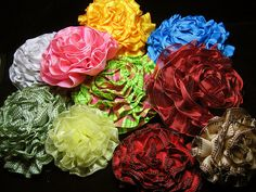 ribbon flowers