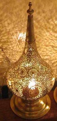 Moroccan classic Lamp Lantern handmade handicraft brass metalwork pattern
