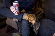 Somehow they manage to make budwiser look cool here Ll Bean Duck Boots, Bean Boots, Fly Boots, Preppy Style, My Style, Classic Style, Look Fashion, Mens Fashion, Best Beans