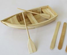 Personalized Ideas: DIY: How to Make Boat with Popsicle Sticks (popsicle s . - Custom Ideas: DIY: How to Make Boat with Popsicle Sticks (popsicle sticks boat tutorial craft) Sour - Popsicle Stick Boat, Popsicle Stick Crafts House, Craft Stick Crafts, Diy With Popsicle Sticks, Craft Sticks, Pop Stick, Stick Art, Boat Crafts, Diy Crafts Hacks