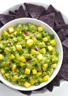 Serving this pineapple guacamole at the Father's Day get together - it's one of Dad's favorites.