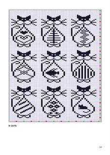Knitting Charts, Knitting Stitches, Knitting Patterns, Crochet Patterns, Loom Patterns, Chat Crochet, Crochet Chart, Filet Crochet, Cross Stitching