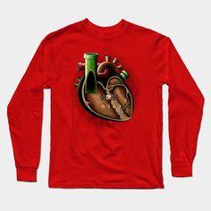 Plumbing In My Heart Long Sleeve T-Shirt  - Book Local Plumbers --> https://SnipTask.com