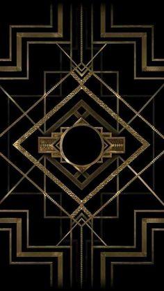 Art deco old Hollywood pattern. Black and gold Art deco old Hollywood pattern. Black and gold Motif Art Deco, Art Deco Design, Art Deco Print, Design Color, Art Nouveau, Monogram Maker, Monogram Design, Monogram Logo, Muebles Art Deco