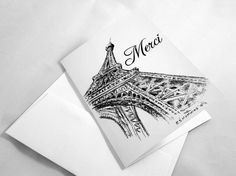 Hey, I found this really awesome Etsy listing at https://www.etsy.com/listing/270978768/merci-thank-you-note-cards-french