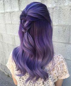 Purple and Smoked Lavender Hair Purple Hair hair Lavender purple Smoked Lavender Hair Colors, Lilac Hair, Pastel Hair, Lavender Ideas, Ombre Hair, Blonde Hair, Beautiful Hair Color, Dye My Hair, Grunge Hair