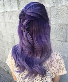 Purple and Smoked Lavender Hair