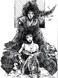 mr-another:  The Sandman and Death by Landragon84   Don't forget Goldie and Matthew!