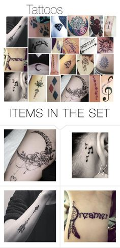 """""""Want & My Character's Tattoos"""" by moon-and-starss ❤ liked on Polyvore featuring art"""