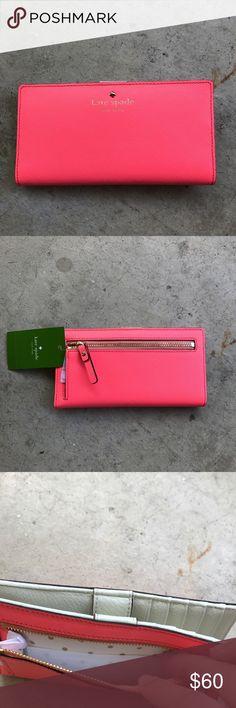 Kate spade hot pink wallet NWT neon pink Kate spade wallet kate spade Bags Wallets