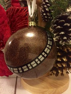 Star Wars Christmas Ornament - Chewbacca Holiday Bauble - Chewie Christmas Decoration by CaliGirlEmbroidery on Etsy https://www.etsy.com/listing/253617620/star-wars-christmas-ornament-chewbacca