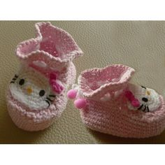 Hello Kitty Crochet Patterns Free | Hello Kitty Infant Infants baby Socks Shoes bootie Crochet Pattern ...