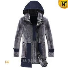 CWMALLS® Custom Shearling Sheepskin Trench Coat with Hood CW816117 Fashion shearling trench coat for men crafted from natural, premium plush shearling sheepskin material, designer shearling hooded coat featuring with trench style, front two-way full zip closure, patch shearling pockets, all in a fashioned and comfy fit. www.cwmalls.com PayPal Available (Price: $1887.89) Email:sales@cwmalls.com