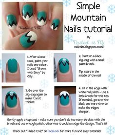 I did a super simple mountain nail art tutorial - for short nails! I just cut my nails and now they're TINY (for me)! So for the next month I'll be finding heaps of cool designs for short nails and making tutorials. If you're not already, follow me to see the rest of them! The post on my blog for this is HERE!