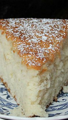Old Fashioned Sugar Cake...and no icing is needed for this light and flavorful cake.