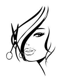 Ícones Home Hair Salons, Hair Salon Interior, Hairstylist Business Cards, Beauty Salon Decor, Salon Art, Hair Quotes, Silhouette Art, Wall Art Designs, Beauty Shop