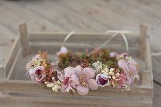 Wedding Hair Accessories – Flower head wreath,floral head wreath,flower crown – a unique product by evafleur on DaWanda