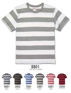 5.0オンス ボールドボーダーショートスリーブTシャツ:United Athle(ユナイテッドアスレ) 5518-01が安い通販業者です。