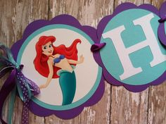Hey, I found this really awesome Etsy listing at http://www.etsy.com/listing/154406540/little-mermaid-birthday-banner-little