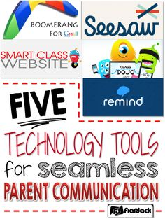 Are you looking to revamp and master the art of parent communication? Be sure to try these five tech tools that will help you effectively keep parents informed and on the same page of working together towards student success. Teaching Technology, Technology Tools, Educational Technology, Technology Integration, Technology Management, Technology Websites, Educational Leadership, Educational Websites, Business Technology